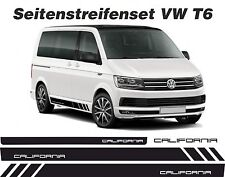 VW T6 BUS Seitenstreifen Set CALIFORNIA Aufkleber Dekor WUNSCHFARBE