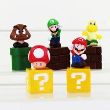 SUPER Mario Bros Luigi 5 Figure Giocattoli Cake Topper Decorazione Party Borsa Filler