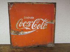 Old Coca Cola Sign #6 Metal --Mexican-Restaurant Bar-Antique-Vintage-Coke-17x17
