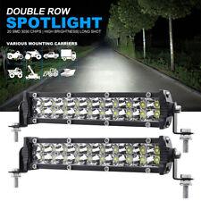 2Pcs LED Work Light Bar 40W 12800LM Driving Fog Spot Lamp Car Truck Off-road SUV