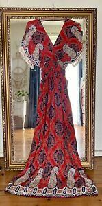 Hippy Gypsy Boho Dress Gown One Size