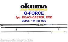 Okuma 13ft Beachcaster Rod Ln70 Big Surf Reel Line Sea Fishing Cod Bass Pike