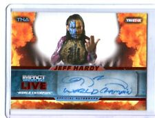 TNA Jeff Hardy 2013 Impact Wrestling LIVE RED Authentic Autograph Card SN 2 of 5