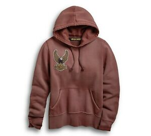 Harley-Davidson Women's Rust Hoodie Embroidered Eagle 96729-19VW