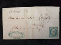 Frankreich 1854 (?) - Brief  Freimarke: Kaiser Napoléon III. EMPIRE FRANC.