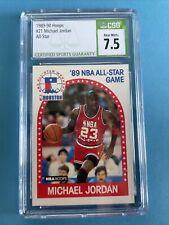 1989-90 Hoops #21 Michael Jordan All-Star CSG 7.5