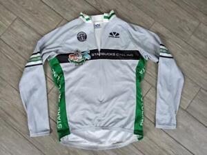 USA made STARBUCKS cycling jersey L bike shirt VOLER vintage long sleeve