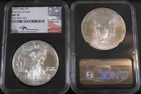 2020 $1 One Ounce Silver Eagle NGC MS 70 First Day of Issue Mercanti Black Core