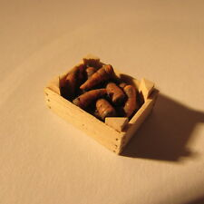 Artisan made crate of carrots ~ 24th scale ~  doll house miniature food