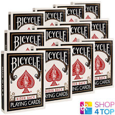 12 DECKS BICYCLE RIDER BACK STANDARD INDEX POKER PLAYING CARDS BLACK NEW