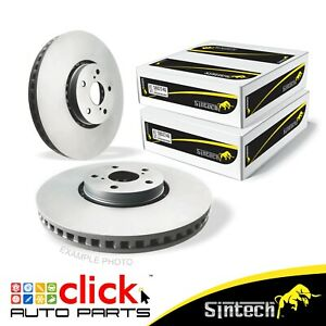 PAIR DISC BRAKE ROTORS for Front to Suit Daewoo Lanos Holden Astra Camira 236mm