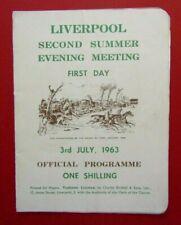 1963 Liverpool Summer Cup Racecard - 03/07/63