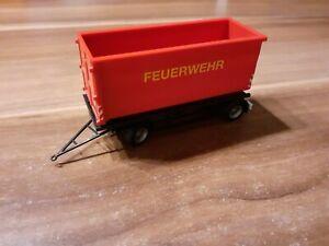 Herpa Absetzcontainer in Rot Feuerwehr Hamburg Anhänger 1:87