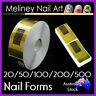 20-500pc Nail Forms Stickers Acrylic Gel Tips Nail Art extensions guide tool