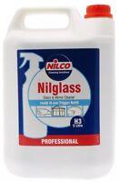 5 Litre Nilco Professional Nilglass Glass Mirror Cleaner 5L Car Window H3 Refill