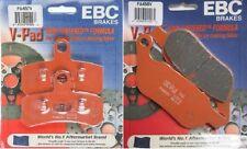 "EBC ""V"" Front + Rear Brake Pads 2008-14 Harley FLSTC Heritage Softail Classic"