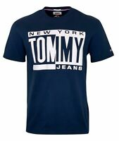 Tommy Hilfiger Men's Cotton Tommy Jeans S/S T-Shirt - Regular Fit - Dark Blue
