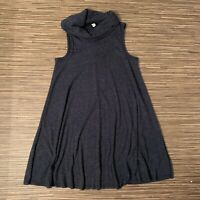 BDG Sweater Dress Sleeveless Cowl Neck Ribbed Blue Speckled Women's Size XS EUC