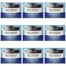 9 Olay AntiWrinkle Instant Hydration Moisturiser Day Cream Reduce Puffiness 50ml