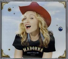 MADONNA - DON'T TELL ME / CYBER-RAGA 2000 UK CD SINGLE PART 1 MAVERICK W547CD1