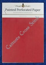 Perforated Paper for Cross Stitch Winterberry 14 Count Mill Hill Painted Red