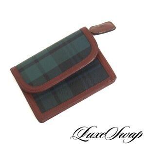 DEADSTOCK NWOT Vintage Polo Ralph Lauren Green Blackwatch Tartan Flap Wallet NR