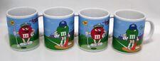 M&M's Candy Lot 4 Ceramic Mugs Coffee Cups