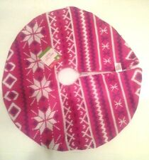 NEW- Knit Mini CHRISTMAS Tree Skirt!  Pink & violet Target! 17.5""