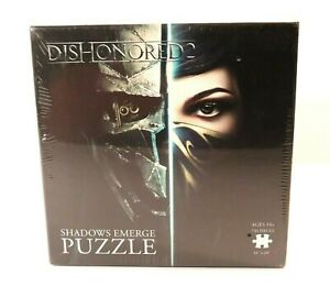 Dishonored 2 Shadows Emerge Jigsaw Puzzle 750 Pieces Collectable Think Geek New