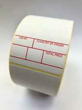 More details for avery scale labels  - 49 x 74mm  5,000 labels - type 1 - freezer adhesive