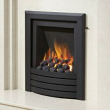 Be Modern Alcazar Slimline Inset Gas Fire Slide Control Black Design Trim