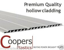 uPVC white hollow plastic cladding or fascia & soffit board. High quality 2.5m.