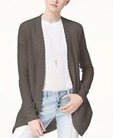 Ultra Flirt Juniors' Open-Front Cardigan. Sizes: Medium, X-Large. Retail $49.00