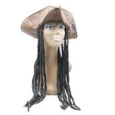 Pirate Hat Dreads Wig Captain Jack Dreadlocks Braids Adult Halloween Costume Cap