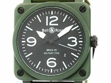 BELL & ROSS Military Ceramic Rubber Automatic Mens Watch BR03-92 (BF306569)