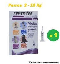 Pipeta fipronil para perros de 2-10 Kg anti pulgas y garrapatas DIPTRON 0,67 ml