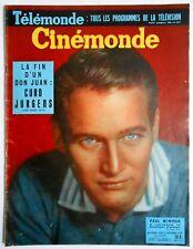 ►CINE MONDE 1259/1958-PAUL NEWMAN-MARILYN MONROE-CURD JURGENS-MAURICE RONET...