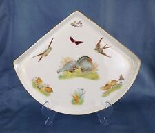 Fabulous Victorian George Jones Fan Turkey Tea Tray Meat Plate Serving Platter