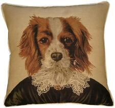 Thierry Poncelet King Charles Spaniel Woven Tapestry Cushion Cover Sham