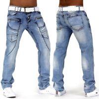 Jeans Pantalons Designer Hommes Denim authentique détruits Clubwear Orage bleu