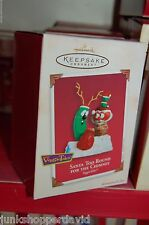 Hallmark 2002 Veggie Tales Santa Too Round Bob & Larry Tv Cartoon Ornament