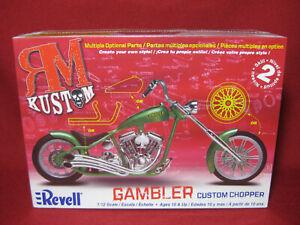 GAMBLER Custom Chopper RM Kustom Motorbike Revell Monogram 1:12 Model Kit 7318
