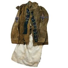 Original 1880s Indian War Cree Us Army Beaded Scout Jacket W/ Miners Shirt