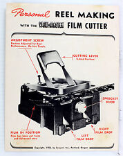 Original View-Master Film Cutter Manual - 4 pages