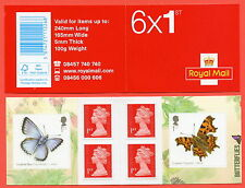 PM39 2013 6 x 1st Butterflies Self Adhesive Booklet