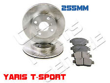 FOR TOYOTA YARIS 1.5 T-SPORT FRONT VENTED BRAKE DISCS DISCS PADS PAS SET 2001 on