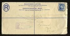 SOUTH AFRICA KG6 REGIST.STATIONERY ENVELOPE 4d + 3d 1937 to LYMINGTON GB faults