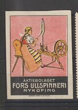 Swedish Poster Stamp Spinning Nykoping Imperf