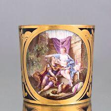 Sevres um 1778: Tasse litron Miniatur Rinaldo et Armida beau bleu Guay cup