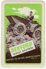 Playing Cards 1 Swap Card Old BENFORD Diesel DUMPERS Construction Building AD 3